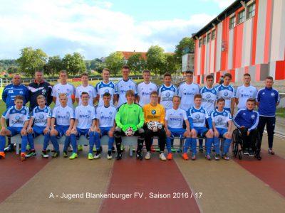 Mannschaftsbild A - Jugend 16 -17